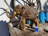 Stort elefant messing