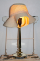 Art Deco bordlampe i bronze